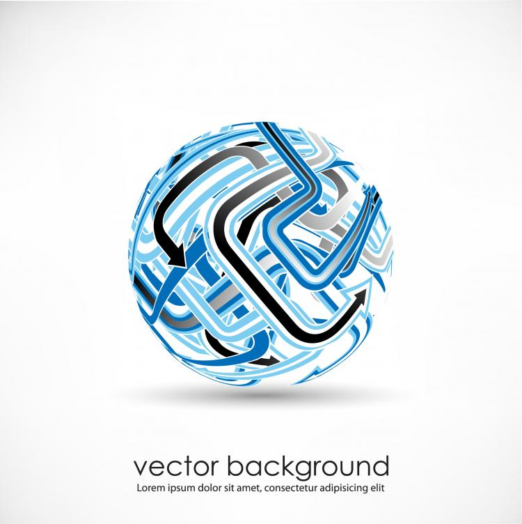 free vector 3d dynamic logo03 vector