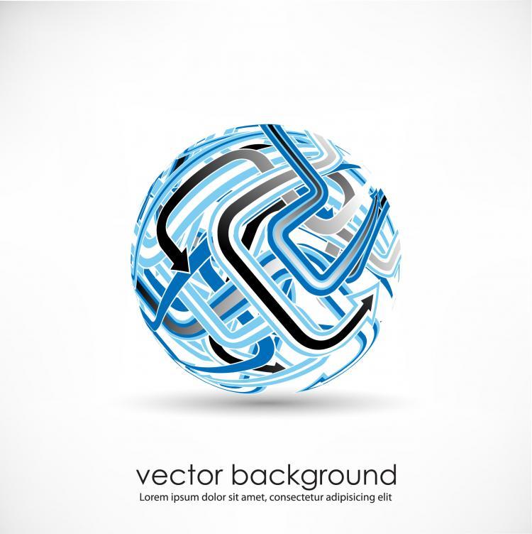 free vector 3d dynamic logo03 vector
