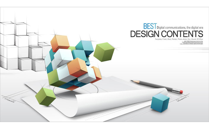free vector 3d fashion design business vector background of the concept of text 1