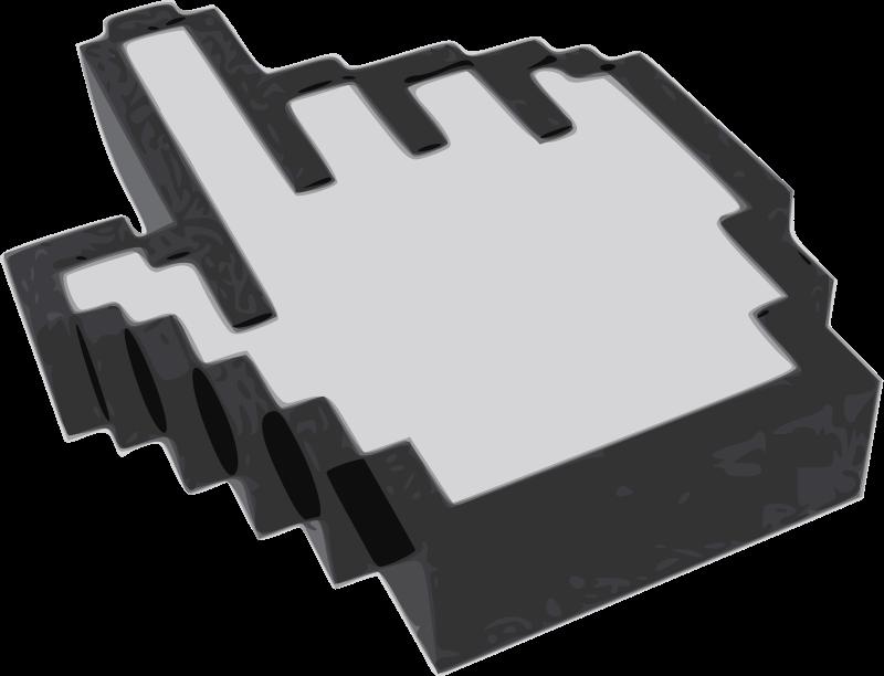 free vector 3D hand cursor