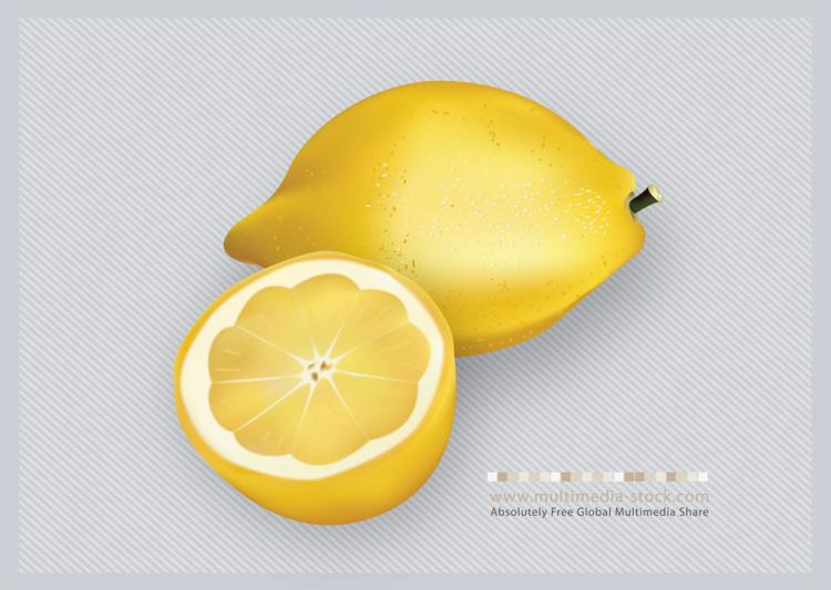 free vector 3D Lemons Fruit Vector