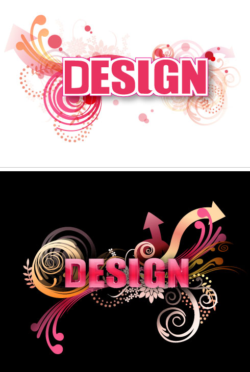 free vector 3D Letter Design Vector 2