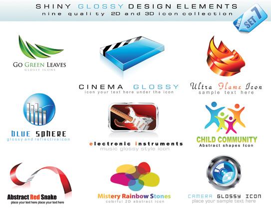 free vector 3d style logo template vector nonoriginal works