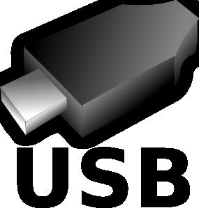 free vector 3d Usb Input Output Plug clip art