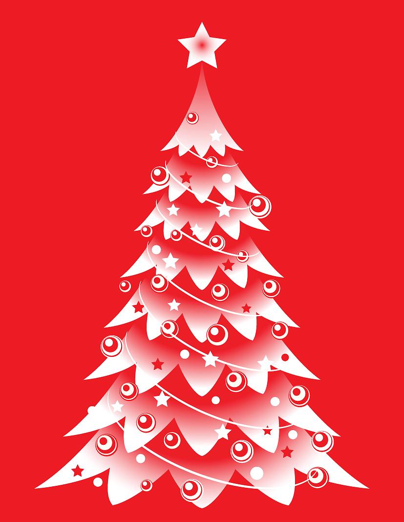 free vector 4 beautiful christmas tree vector