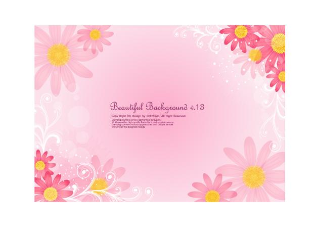 free vector 4 cute little daisy background vector
