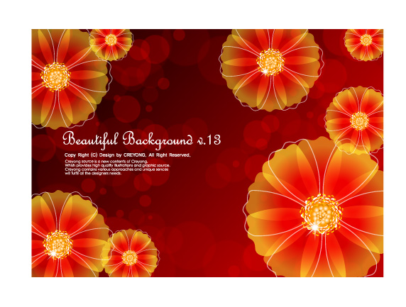 free vector 4 dynamic flower background vector dream