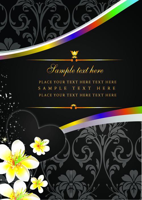 free vector 4 money flowers card vector
