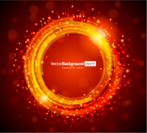 4 round light vector background free vector    4vector