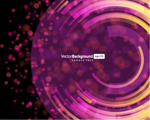 free vector 4 round light vector background