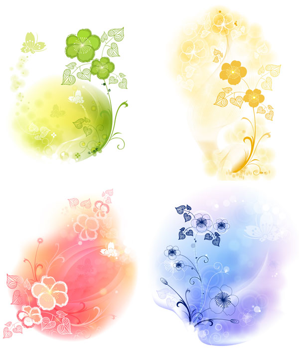 free vector 4 soft background pattern vector