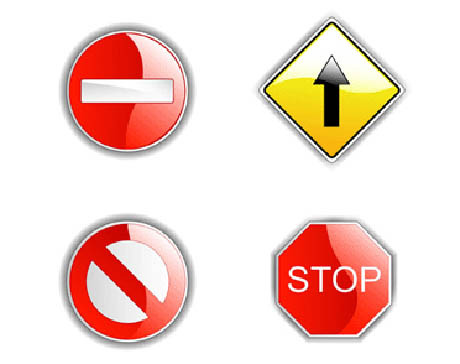free vector 4 traffic signs vector