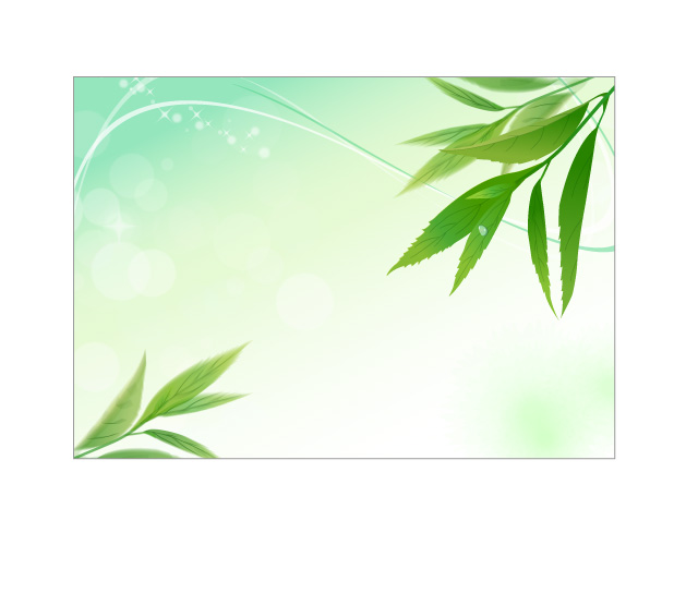 free vector 4 vibrant leaves vector