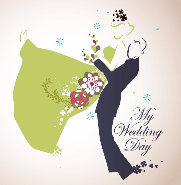 free vector 4 wedding wedding theme vector illustrator