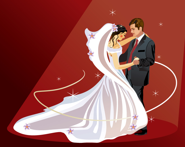 free vector 4 wedding wedding theme vector illustrator