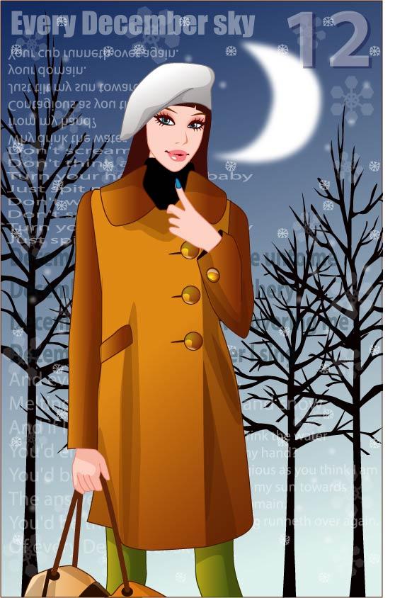 free vector 4 winter vector women