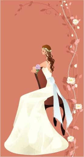 free vector 40 zhang meili wedding bride vector