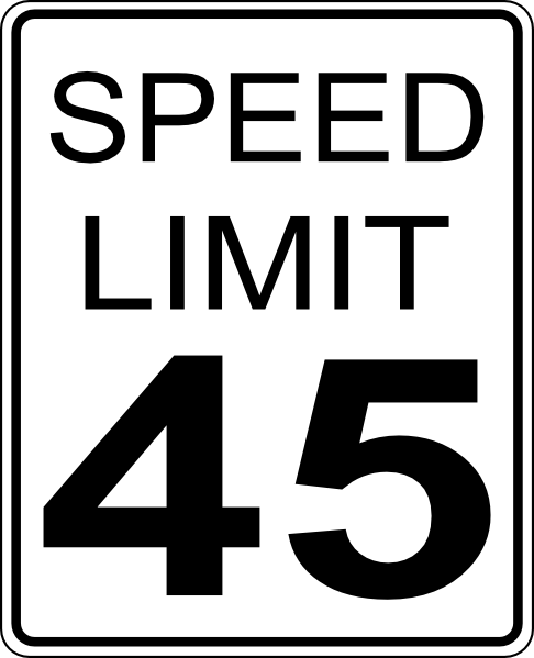 free vector 45mph Speed Limit Road Sign clip art