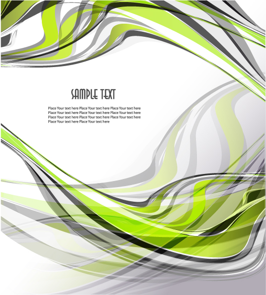 free vector 5 beautiful dynamic lines of the background vector