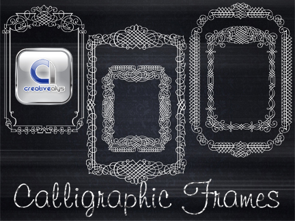 free vector 5 Calligraphic Vector Frames
