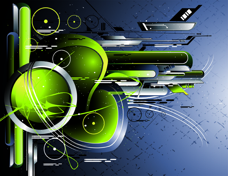free vector 5 current hightech theme vector