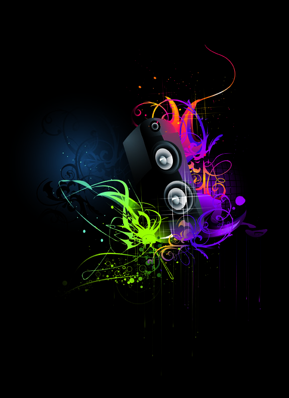 free vector 5 current music vector