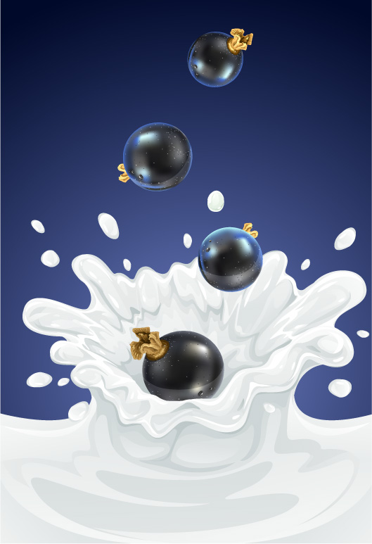 free vector 5 fruit and milk moment vector fall