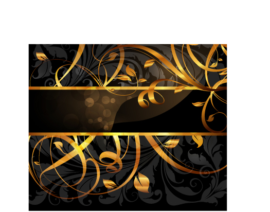free vector 5 gold pattern vector
