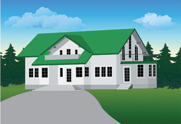 free vector 5 house vector