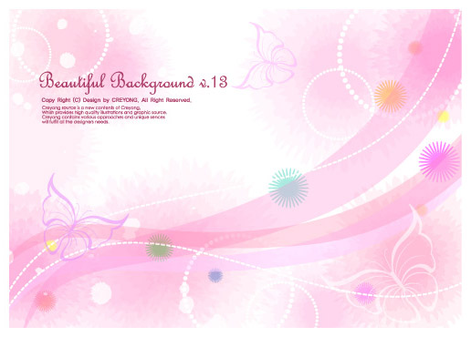 free vector 5 lines of the butterfly and the background vector