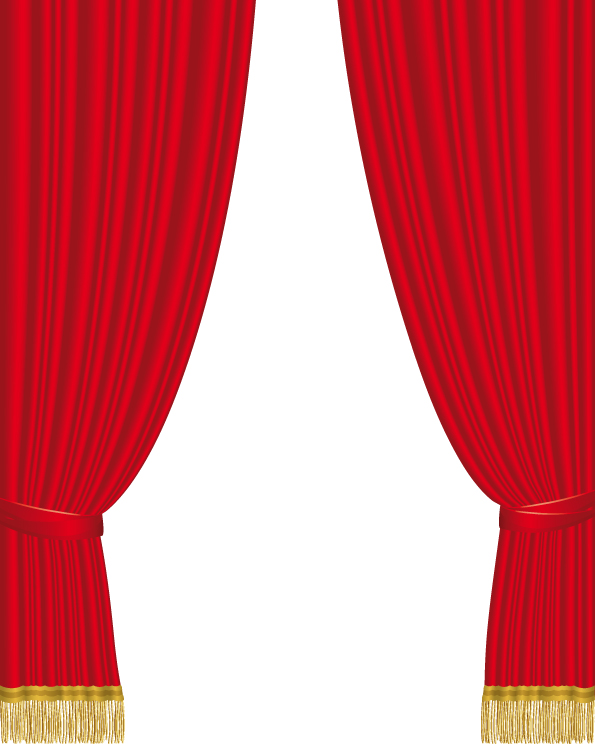 cartoon red curtains wallpaper - photo #39