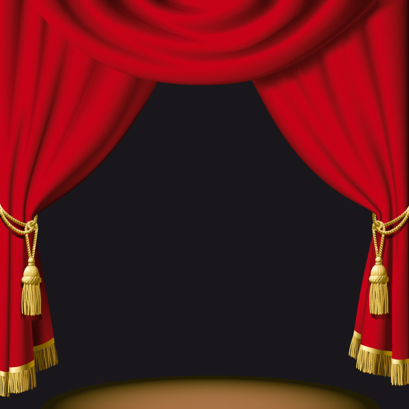 free vector 5 practical curtain vector
