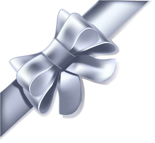 free vector 5 ribbon bow vector