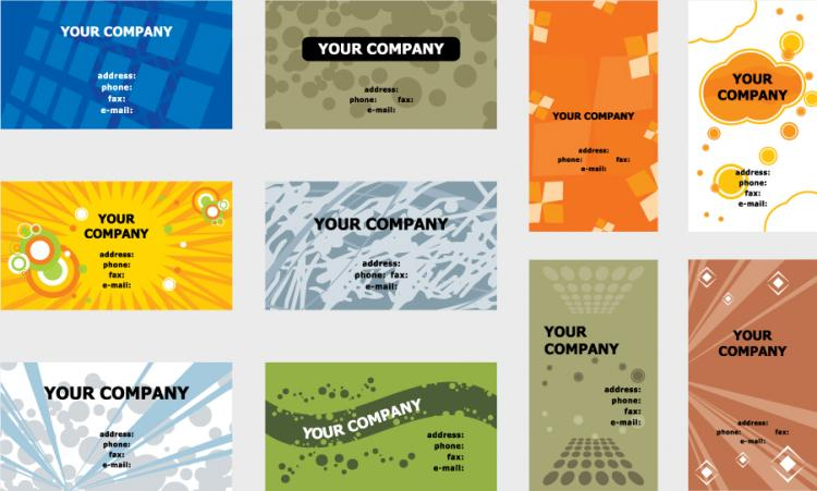 5 sets of a beautiful business card template vector free vector