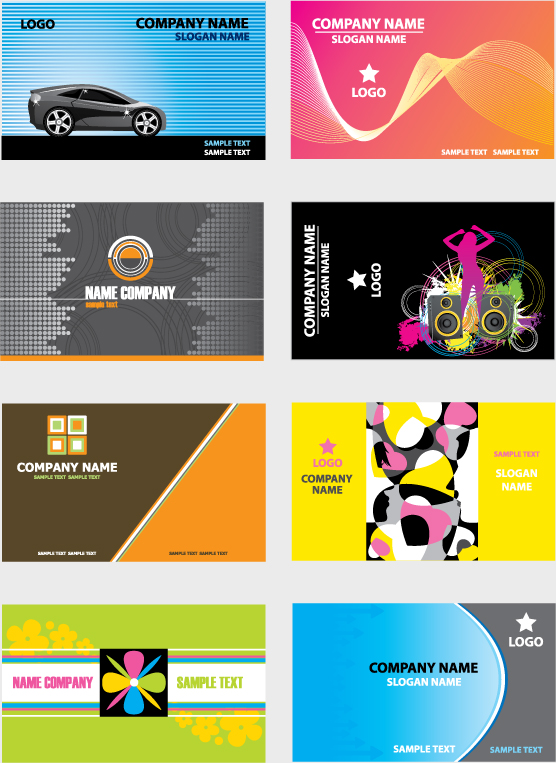 free vector 5 sets of a beautiful business card template vector