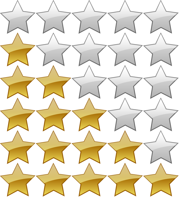 free vector 5 Star Rating System