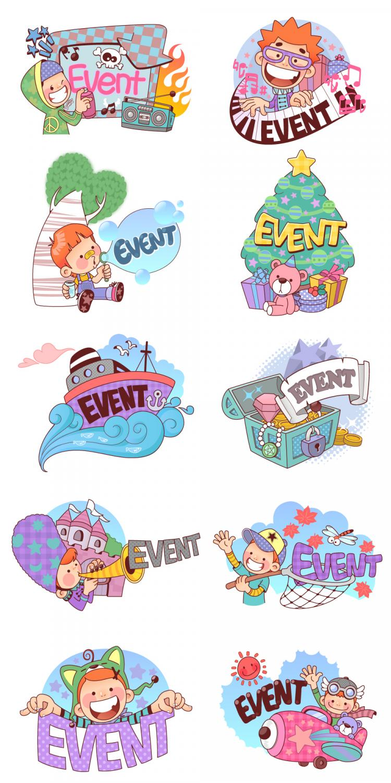 free vector 50 clip art cartoon character scenes