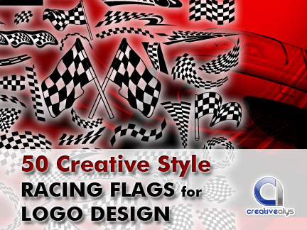 free vector 50 Creative Style Racing Flags for Logo Design