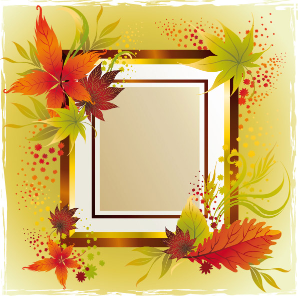 free vector 6 autumn maple leaf border vector