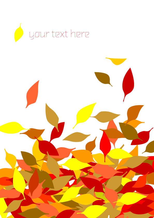 6 autumn maple leaf border vector Free Vector / 4Vector