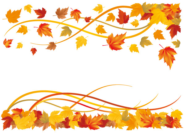 6 Autumn Maple Leaf Border Vector Free Vector 4vector Coloring Pages Fall Season