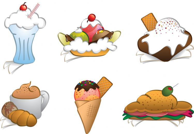 free vector 6 Free Vector Dessert Cliparts