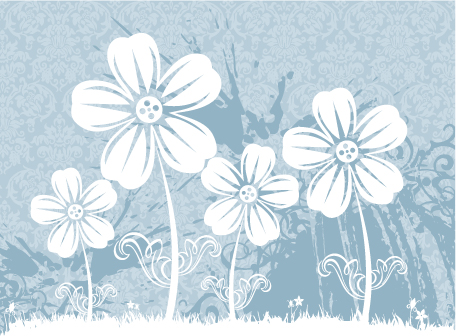 free vector 6 handpainted flowers vector