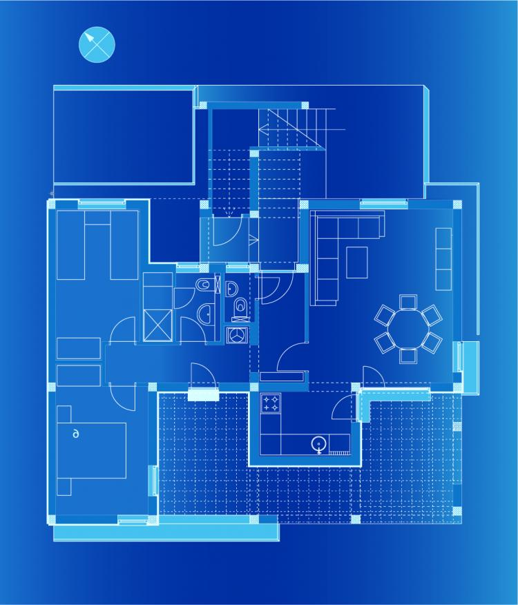 6 Interior Floor Plan Drawing Theme Vector Free Vector