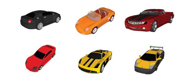 free vector 6 Vector automobiles