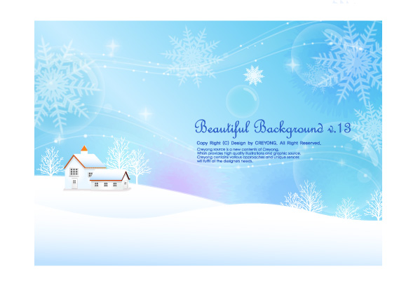 free vector 6 winter snow background vector