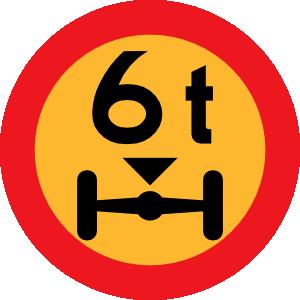 free vector 6t Wheelbase Sign clip art