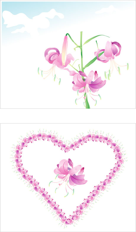 free vector 7 elegant watercolor flowers vector