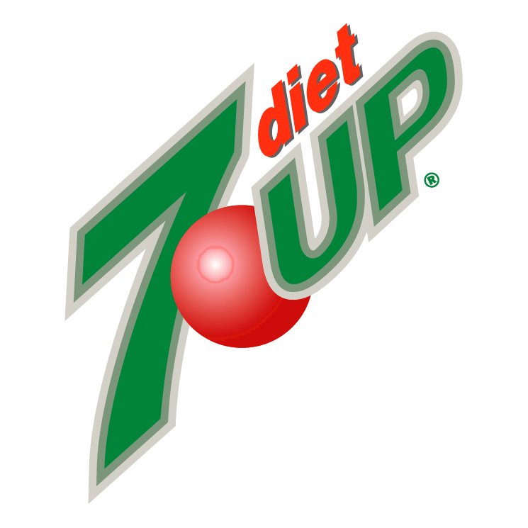 free vector 7up diet 0