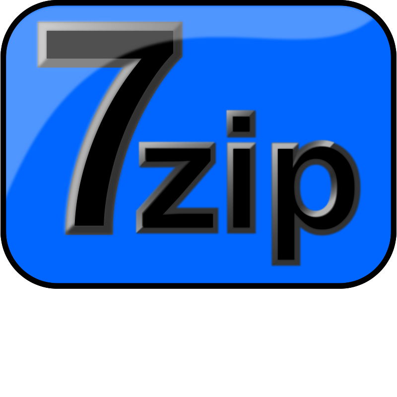 free vector 7zip Glossy Extrude Blue